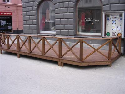 Uteservering på gågatan i Sollefteå