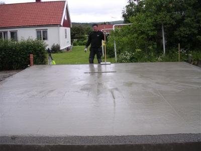 Gjutning av betongplatta